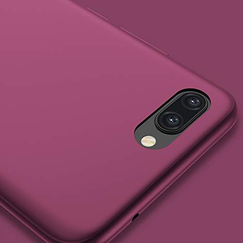 X-level für Honor 10 Hülle, [Guardian Serie] Soft Flex Silikon Premium TPU Echtes Telefongefühl Handyhülle Schutzhülle Kompatibel mit Honor 10 Case Cover - Weinrot - 4
