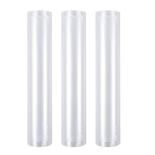 RENJIA Envasadora al vacío IHGWE, rollos de papel de aluminio, apta para todos los dispositivos de envasado al vacío, 20 x 600 cm, 3 rollos, apta para microondas