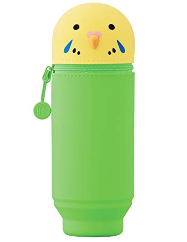 PuniLabo ParakeetParrot Soft Silicone Stand Up Pen and Pencil Case – Big Size