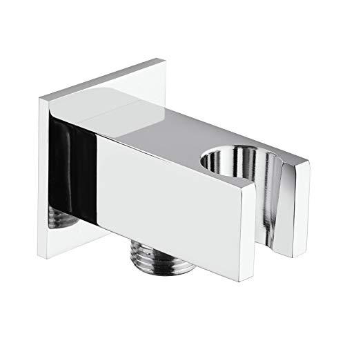 supporto incasso rubinetteria ricambio saliscendi quadrato per doccetta doccia in ottone cromato