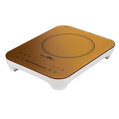 Genius HeatVision Induktionskochfeld Elektrokochfeld Herdplatte mit Touchscreen mit Boost-Funktion Timer & Kindersicherung für optimale Kochergebnisse 2200 Watt 10 Stufen