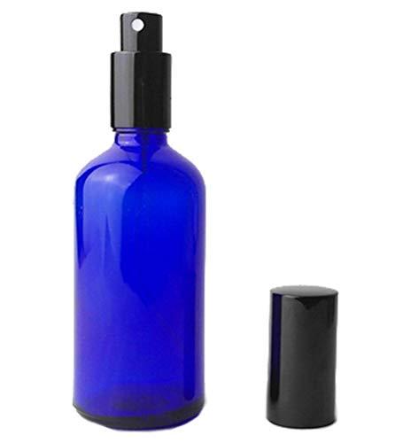2PCS 100 ml nachfüllbar blau Glas Spray Parfüm Flasche leer Zerstäuber Flasche mit Schwarz Gap für Reisen Party-Make-up Werkzeug