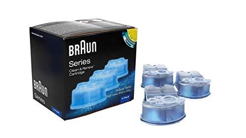 Braun Clean And Renew Recharge De Cartouches Pour Rasoir Électrique, Pack De3, Compatibles Avec Tous Les Braun SmartCare Et Clean&Charge Centers
