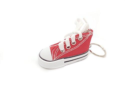 Familienkalender Sneaker Baby Kinder süßer Kleiner Schuh Schlüsselanhänger Anhänger | Geburt | Mädchen | Junge | Geschenk | rot
