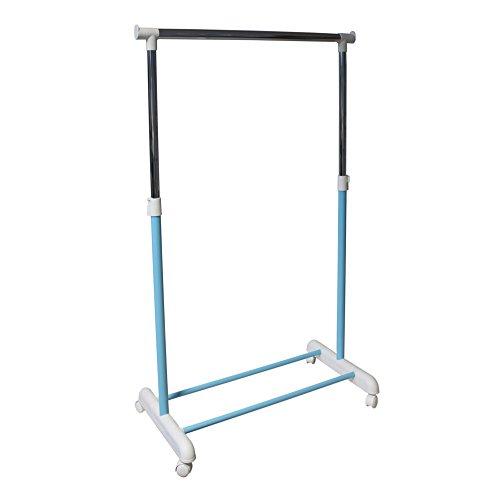 Kleiderstange Garderobenstange Garderobenständer Kleiderständer Garderobe höhenverstellbar mobil blau