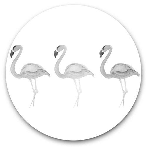 Impresionantes pegatinas de vinilo (juego de 2) 30 cm BW – acuarela rosa flamenco pájaros divertidos calcomanías para portátiles, tabletas, equipaje, reserva de chatarras, neveras, regalo genial #40834