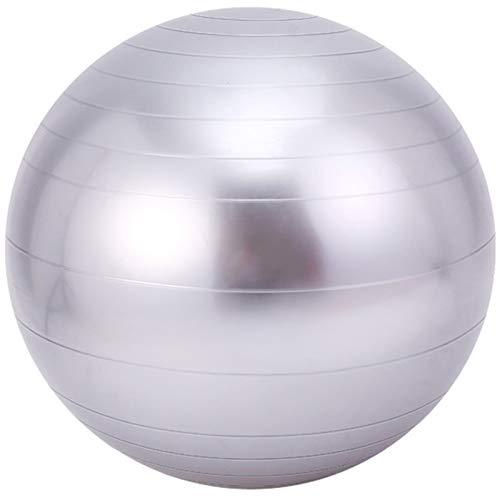 Bola de Yoga Bola de Yoga Fitness Gimnasia Bola Sensor de Entrenamiento Integral, PVC Yoga Ball Diámetro 45 cm,Gris