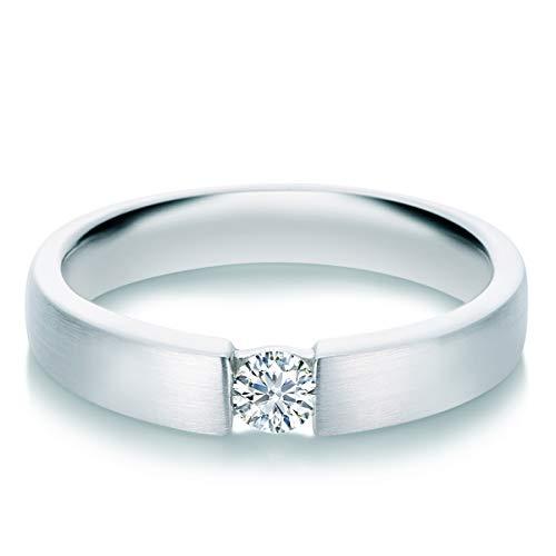 Tresor 1934 Damen-Ring Diamant 0,2 Weißgold Spannring Diamantring Verlobungsring