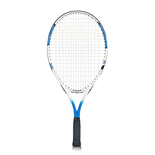 CSMW Raquetas de Tenis para niños, Juguetes Deportivos al Aire Libre para niños y niñas, adecuados para niños de 7 a 9 años. Blue-23inches