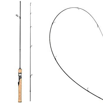 Rosewood Ultralight Spinning/Casting Rod Cork Handle Fishing Rods Sensitive Solid Tip for Crappie Trout Panfish Ultra-Light 5-Feet 5.5-Feet 6-Feet  Spinning Rod 1.5
