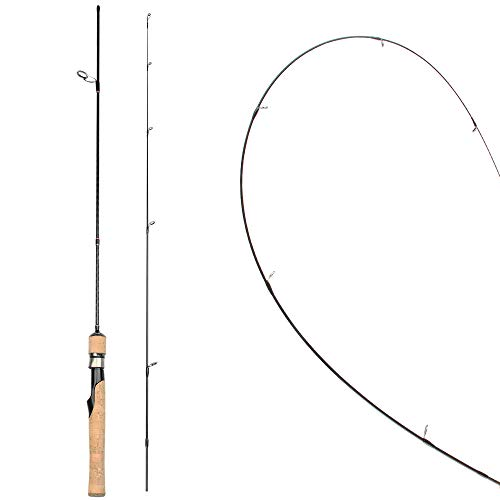 Rosewood Ultralight Spinning/Casting Rod Cork Handle Fishing Rods Sensitive Solid Tip for Crappie, Trout, Panfish, Ultra-Light, 5-Feet 5.5-Feet 6-Feet (Spinning Rod, 1.5)