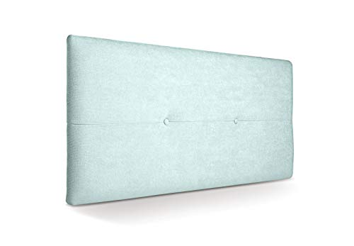 SUENOSZZZ - Cabecero de Madera Jazmin, tapizado Acolchado, en Tela Rio16 Color Verde Agua Cabeceros Madera para Dormitorio | Cama Matrimonio | Cama Juvenil | Camas de 105 cm, 90 cm, 80 cm
