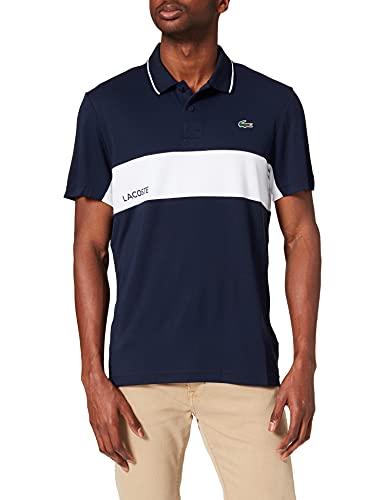 Lacoste DH9583 Camisa de Polo, Marine/Blanc-Marine, XXL para Hombre