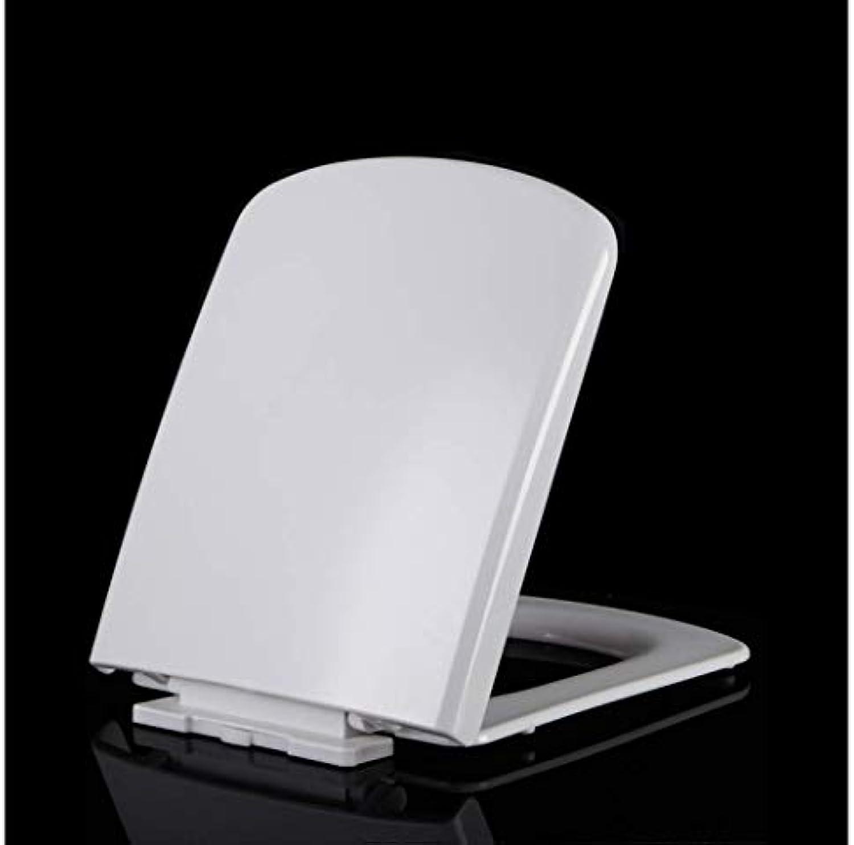 WC-Sitz WC-Sitz mit verdicktem Soft-Close-Scharnier Oben montierter Ultra-Bestendiger WC-Sitz für quadratischen WC-Sitz Antibakterieller Toilettensitz (Farbe   Weiß, Größe   4345.5  36)