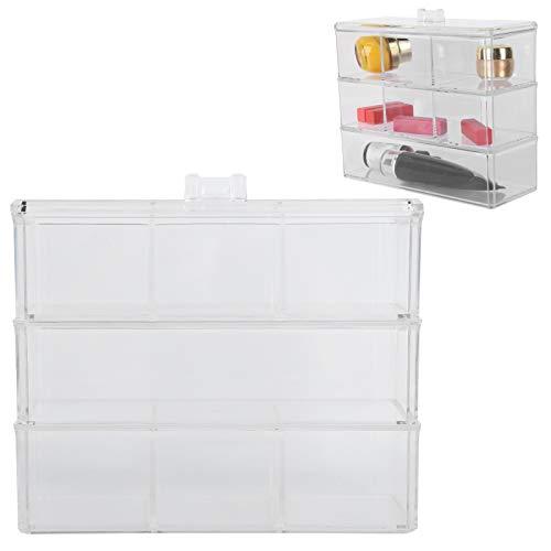 Wosune Organizador de la Caja del Maquillaje, Material cosmético del picosegundo del Organizador para el Cuarto de baño para Las Fuentes de la joyería para