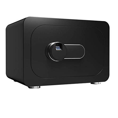 XiYou Caja de Seguridad de Seguridad, para el hogar Seguridad en el hogar Bloqueo Seguro de Huellas Dactilares o Deslizar la Caja de Seguridad de Doble Capa Abierta de 40 * 30 * 28 cm