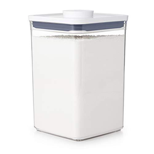 OXO 保存容器 プラスチック 密閉 4.2L ポップコンテナ 新タイプ ビックスクエア ミディアム