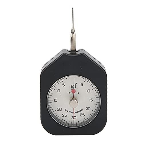 Medidor de fuerza de gramos, medidor de tensión, interruptor de aguja doble, dinamómetro, tensiómetro, 30g, aleación portátil para medir