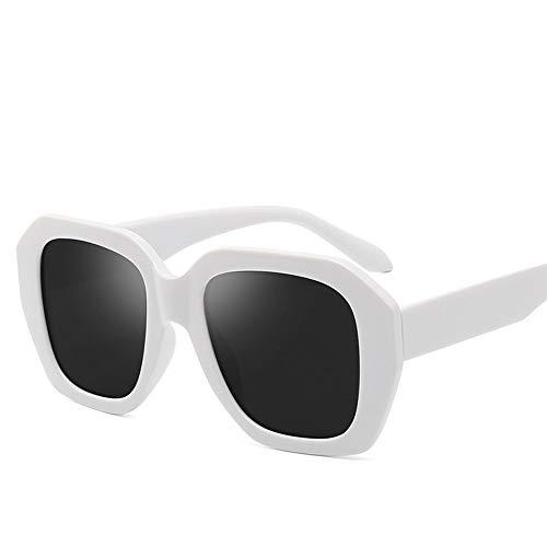 Zonnebrillen, Klassieke Fgrayion Casual Comfort Onregelmatige Frame Zonnebrillen Mannen Gafas De Sol Hombre Mujer U400 Effen Witte Doos Volledige Grijze Lens