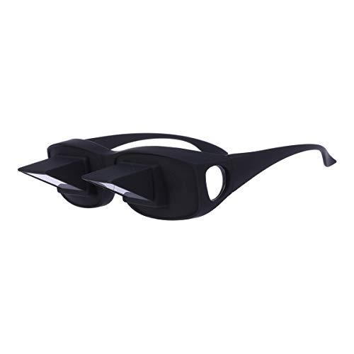 SUPVOX Horizontal Lazy Reader Prism Eye Glasses Horizontal Viendo televisión Gafas de lectura (Negro)