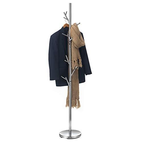 IDIMEX Kleiderständer Garderobenständer Kleiderstange Garderobe ZENO Metall Chrom lackiert