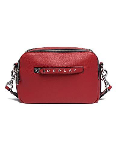 Replay Damen Fw3842.000.a0132d Umhängetasche, Rot (Gloss Red), 9x17,5x24,5 cm