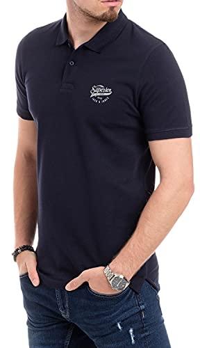 Jack and Jones Herren Poloshirt Kurzarm Slim Fit mit Print Shirt für Männer (Navy 622, M, m)