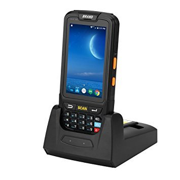 MUNBYN PDA Scanner with Android 7.0, 2D QR PDF417 Honeywell Barcode Scanner with 3G 4G WiFi Mobile Computer, 4'' Touch Screen& Numeric Keypad Rugged Handheld with Docking Station for Inventory System