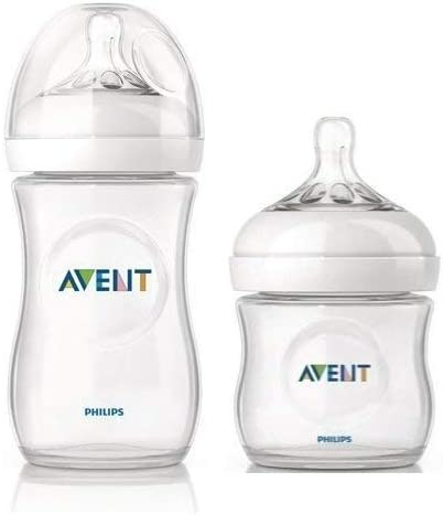 Philips Avent 260ml Natural Feeding Bottle With 125ml Natural Feeding Bottle