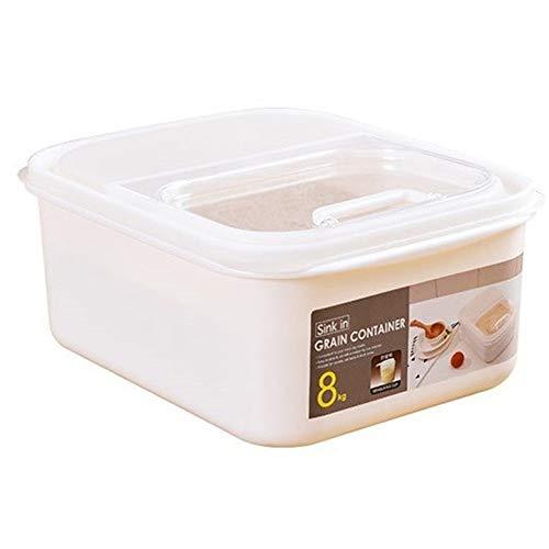 Unbne Pet Seal Breeding Dog Cat Food Storage Rice Bucket with Spoon Dry Food Antioxidant Home Storage Organizer Rice Cylinder Rice Jar
