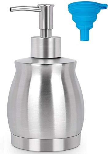 Seifenspender aus Edelstahl mit einem Fassungsvermögen von 390 ml für Küche und Bad zur Aufnahme von Händedesinfektionsmitteln