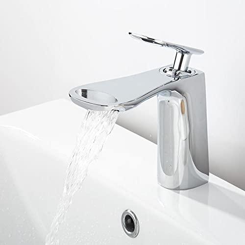 Grifos Lavabos Rusticos Grifo de lavabo de baño montaje en cubierta mezclador de lavabo de cromo negro grifos de agua mezcladores creativos de grúa de agua fría y caliente