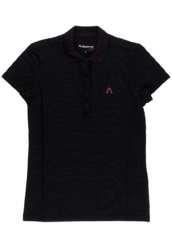 ALBERTO Damen Poloshirt Carry Cool Air, Farben:Schwarz(999), Größe:S