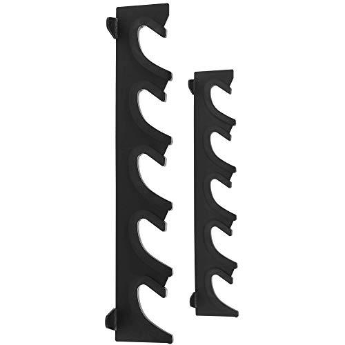GORILLA SPORTS® Hantelablage für Langhanteln Stahl horizontal/vertikal – Halterung für 5 Langhantelstangen zur Wandmontage bis 300 kg belastbar