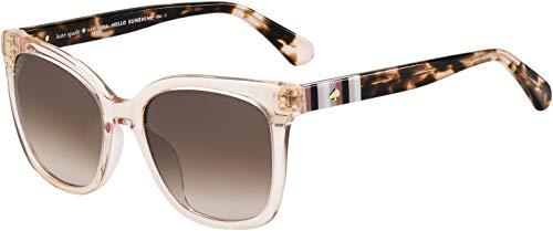 Kate Spade Kiya/S 0733/HA 53M Peach/Brown Gradient Square Sunglasses for Women+FREE Complimentary Eyewear Kit