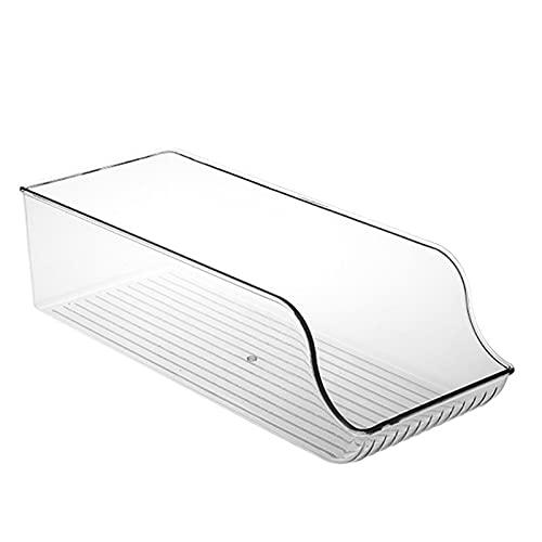 NCONCO Organizador de refrigerador, organizador de despensa, cubo de almacenamiento apilable transparente