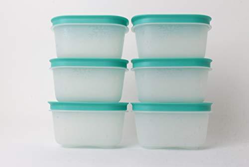 Tupperware Gefrier-Behälter 6X 170ml Weiß/Türkis Eiskristall Dose