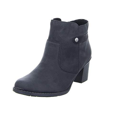 Rieker Damen Stiefeletten L7661, Frauen Ankle Boots, Frauen weibliche Lady Ladies feminin elegant Women's Women Woman,schwarz/schwarz,38 EU / 5 UK