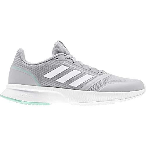 adidas Women's Nova Flow Grey/White/Bahia Mint 6