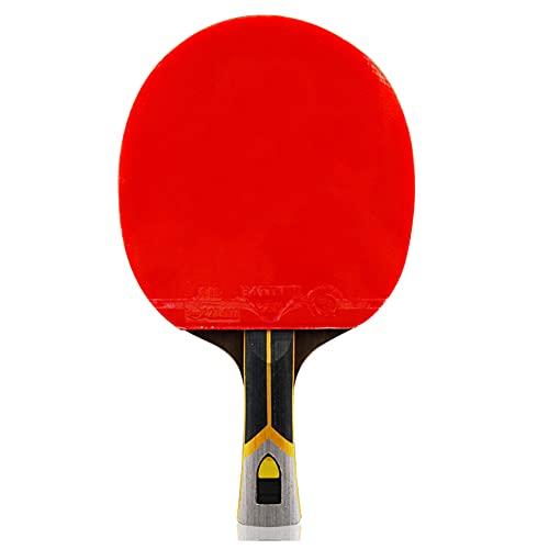 LINGOSHUN Raquetas de Tenis de Mesa con Tecnología de Fibra de Carbono,Paleta de Ping Pong Premium para Mayor Control,Giro, 9 Estrellas/Single/Long handle