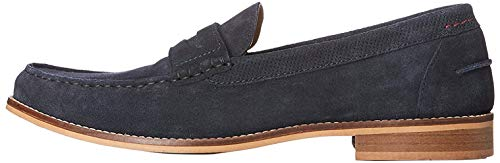 Amazon-Marke: find. Cologne Penny Loafer Slipper, Blau (Navy), 44 EU