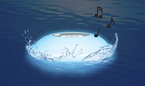 Poolmaster 54504 Portable Floating Waterproof Multi-Light Speaker with Call Functionality