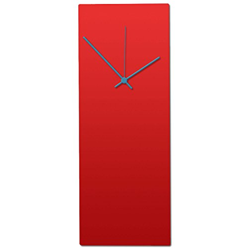 Metal Art Studio Redout Clock Contemporary Wall Decor, Small, Red...
