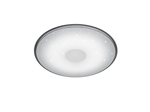 Trio Leuchten LED Deckenleuchte Shogun 628513001, Acryl weiß mit Star Light Effekt, Rand klar, 30 Watt, Fernbedienung Helligkeit und Lichtfarbe einstellbar, Nachtlicht Funktion