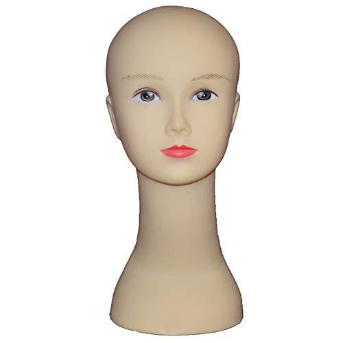 ZXCASD Mannequin Kopf Langhals Weiblich Schaufensterpuppe Kopf Dekokopf Hutständer Mütze Brille Schal Anzeigen Perückenständer