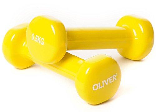 Oliver Vinyl Hantel 2 x 0,5 kg Hantelset Kurzhanteln Fitness Aerobic Training