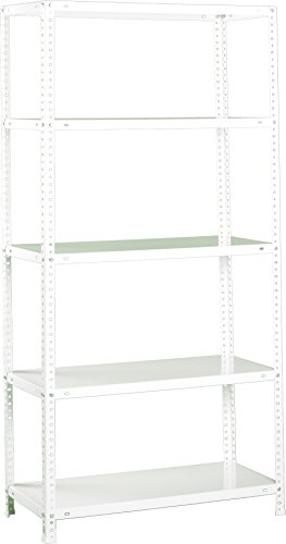 SimonRack SI209 Estantería con 5 Estantes, Blanco, 2000 x 1000 x 500 mm
