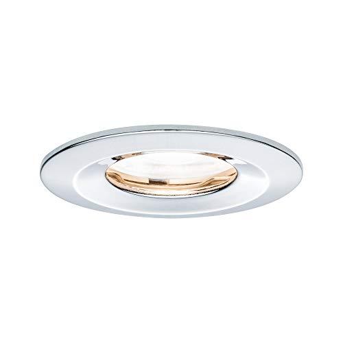 Preisvergleich Produktbild Paulmann Leuchten Paulmann 93627 LED Nova Einbaustrahler rund Deckenspot 7W Einbaulampe GU10 Chrom dimmbar Einbaulicht IP65 strahlwassergeschützt Einbauleuchte,  Aluminium,  7 W
