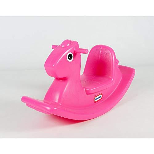 Little Tikes Schaukelpferd - Aktives Spielen für Kleinkinder - Einface Griffe mit Grip und Stabiler Sattel für Sicherheit - Robuste Konstruktion - magenta