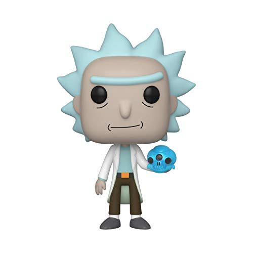 Funko- Pop Animation: Rick & Morty-Rick w/Crystal Skull and Morty Collectible Toy, Multicolor (45438)